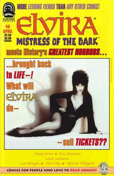 Cover for Elvira, Mistress of the Dark (Claypool Comics, 1993 series) #48