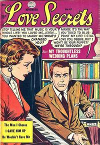 Cover Thumbnail for Love Secrets (Quality Comics, 1953 series) #41