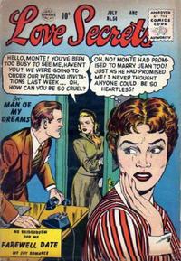 Cover Thumbnail for Love Secrets (Quality Comics, 1953 series) #54