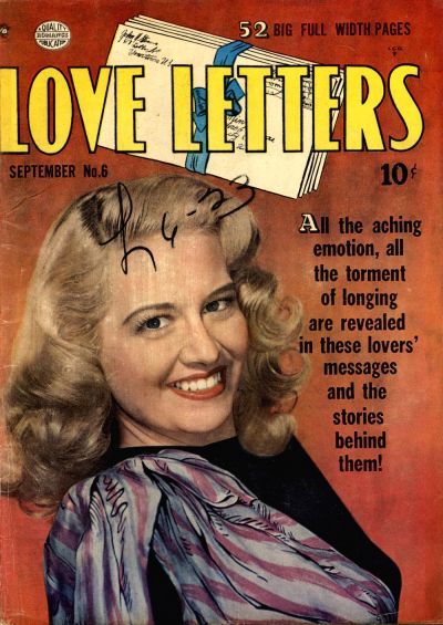Cover for Love Letters (Quality Comics, 1949 series) #6