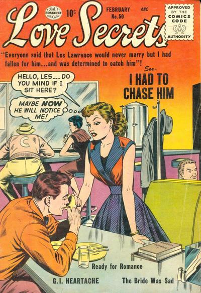 Cover for Love Secrets (Quality Comics, 1953 series) #50