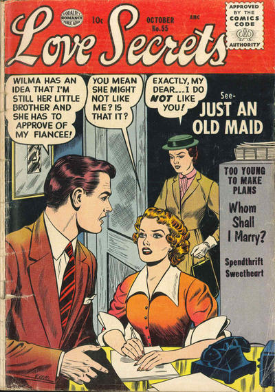 Cover for Love Secrets (Quality Comics, 1953 series) #55