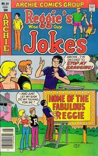 Cover Thumbnail for Reggie's Wise Guy Jokes (Archie, 1968 series) #54
