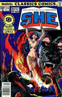 Cover Thumbnail for Marvel Classics Comics (Marvel, 1976 series) #24 - She