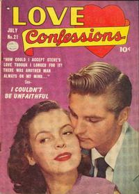 Cover Thumbnail for Love Confessions (Quality Comics, 1949 series) #21