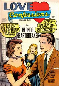 Cover Thumbnail for Love Confessions (Quality Comics, 1949 series) #41