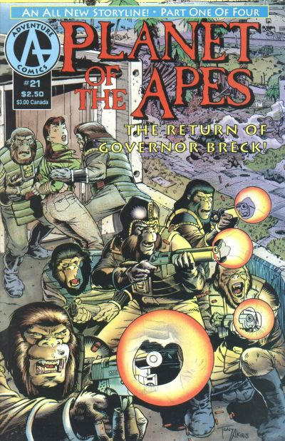 Cover for Planet of the Apes (Malibu, 1990 series) #21