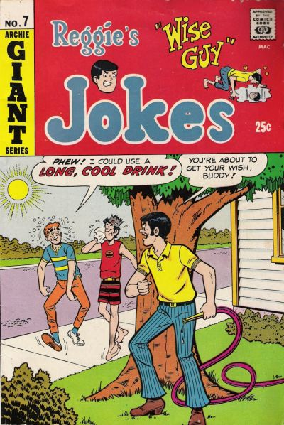 Cover for Reggie's Wise Guy Jokes (Archie, 1968 series) #7