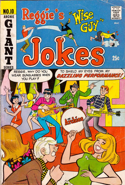 Cover for Reggie's Wise Guy Jokes (Archie, 1968 series) #10