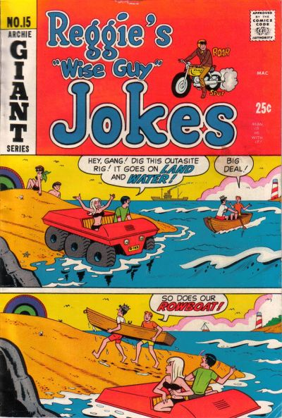 Cover for Reggie's Wise Guy Jokes (Archie, 1968 series) #15
