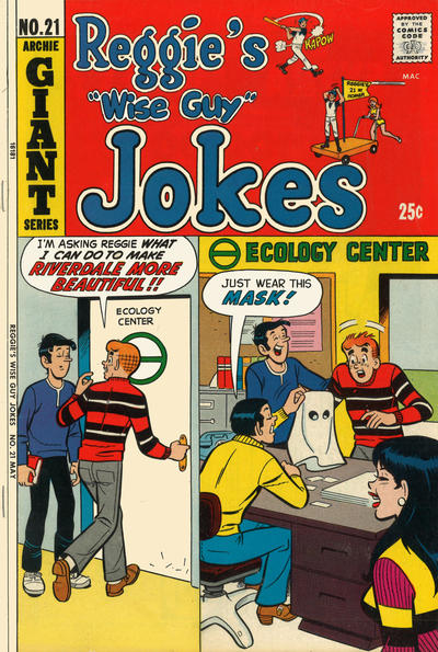 Cover for Reggie's Wise Guy Jokes (Archie, 1968 series) #21