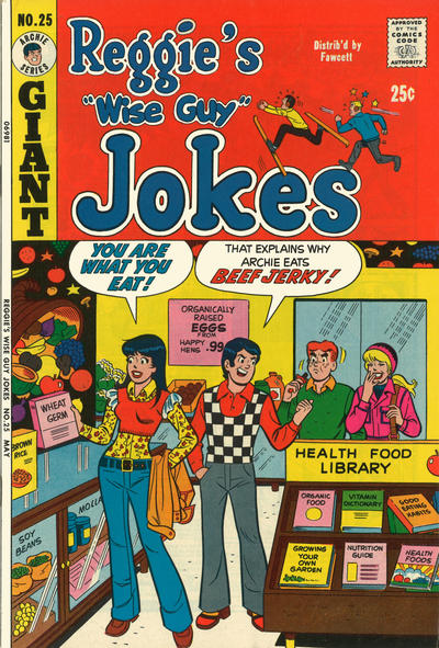 Cover for Reggie's Wise Guy Jokes (Archie, 1968 series) #25