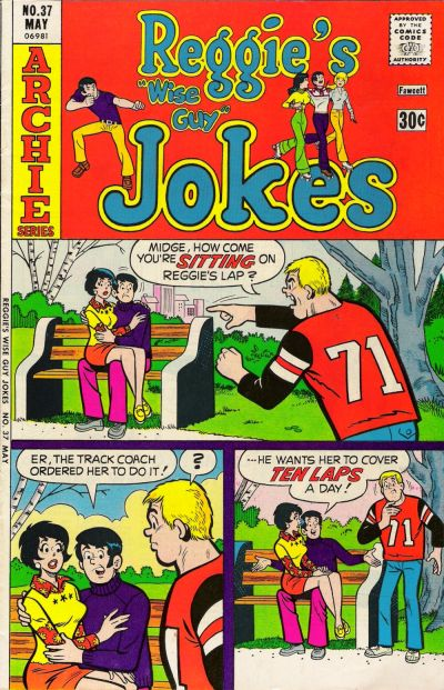 Cover for Reggie's Wise Guy Jokes (Archie, 1968 series) #37