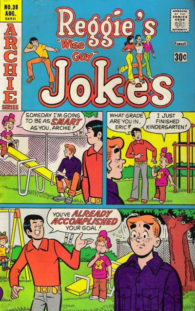 Cover for Reggie's Wise Guy Jokes (Archie, 1968 series) #38