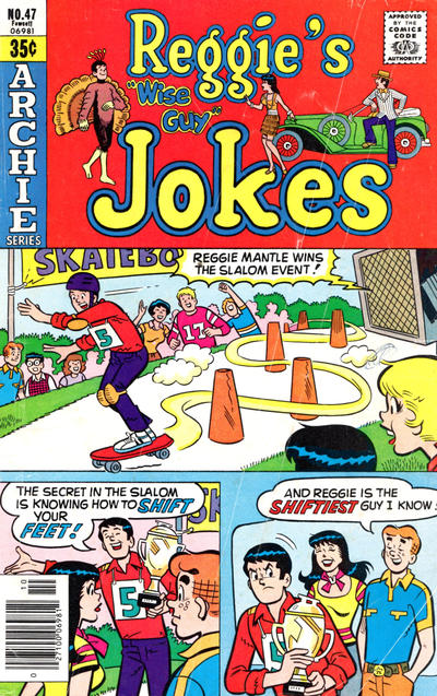 Cover for Reggie's Wise Guy Jokes (Archie, 1968 series) #47