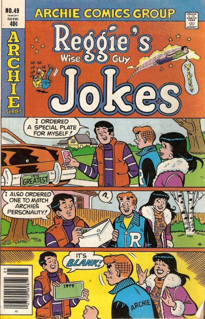 Cover for Reggie's Wise Guy Jokes (Archie, 1968 series) #49