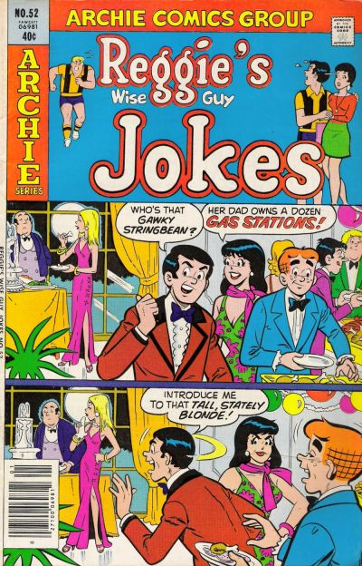 Cover for Reggie's Wise Guy Jokes (Archie, 1968 series) #52