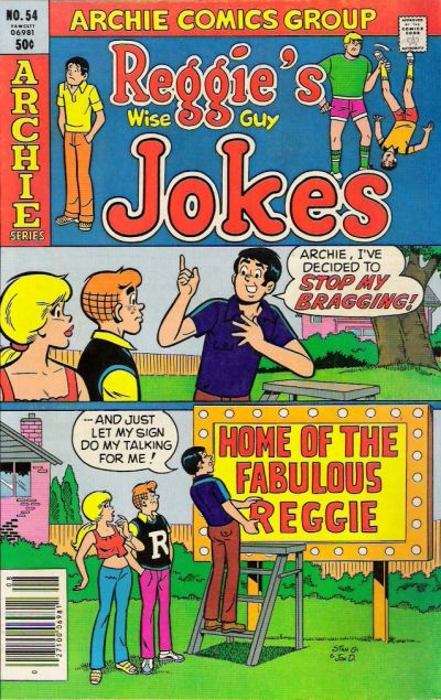Cover for Reggie's Wise Guy Jokes (Archie, 1968 series) #54