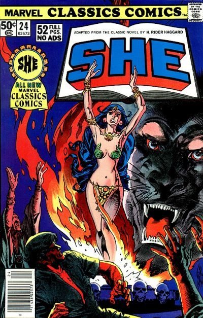 Cover for Marvel Classics Comics (Marvel, 1976 series) #24 - She