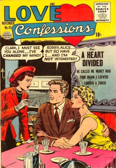 Cover for Love Confessions (Quality Comics, 1949 series) #45
