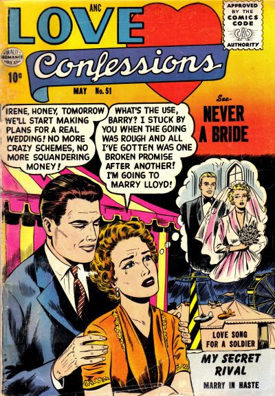 Cover for Love Confessions (Quality Comics, 1949 series) #51