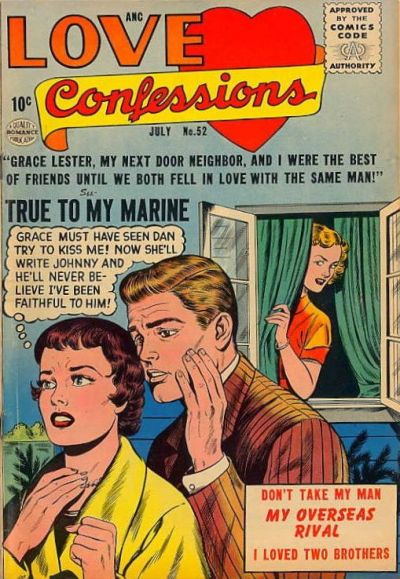 Cover for Love Confessions (Quality Comics, 1949 series) #52