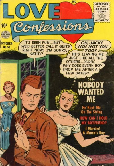 Cover for Love Confessions (Quality Comics, 1949 series) #53