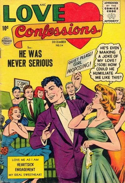 Cover for Love Confessions (Quality Comics, 1949 series) #54