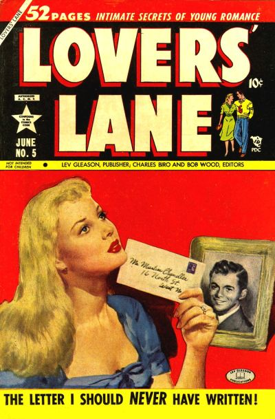 Cover for Lovers' Lane (Lev Gleason, 1949 series) #5