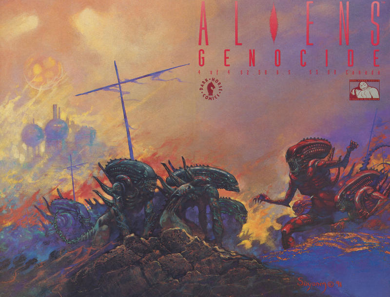 Cover for Aliens: Genocide (Dark Horse, 1991 series) #4