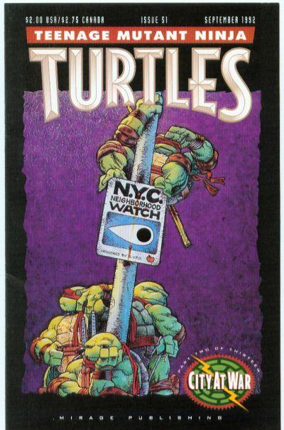 Cover for Teenage Mutant Ninja Turtles (Mirage, 1984 series) #51