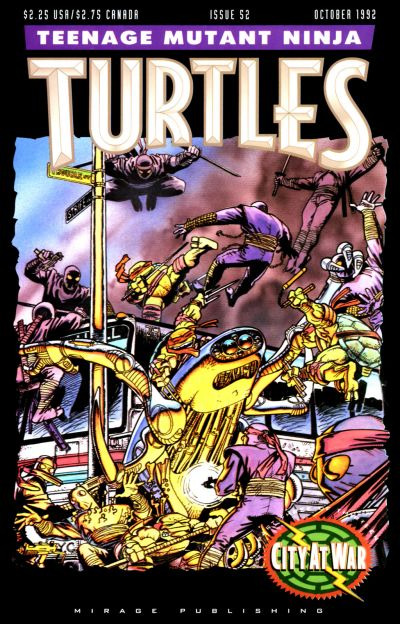 Cover for Teenage Mutant Ninja Turtles (Mirage, 1984 series) #52