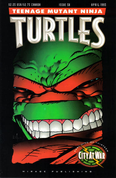 Cover for Teenage Mutant Ninja Turtles (Mirage, 1984 series) #58