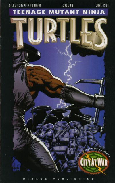 Cover for Teenage Mutant Ninja Turtles (Mirage, 1984 series) #60