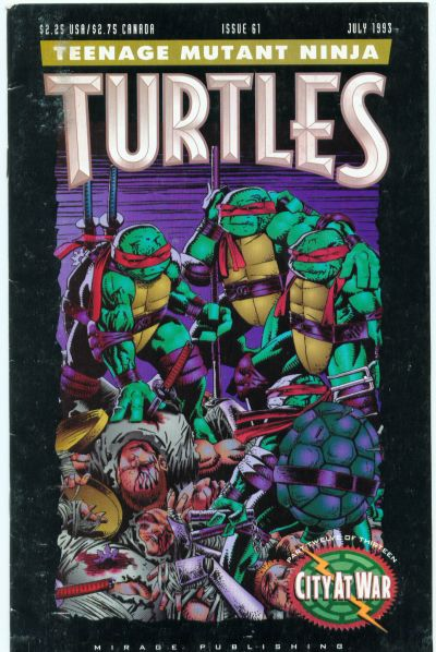 Cover for Teenage Mutant Ninja Turtles (Mirage, 1984 series) #61