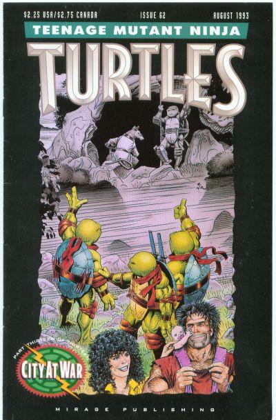 Cover for Teenage Mutant Ninja Turtles (Mirage, 1984 series) #62