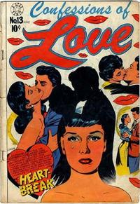Cover Thumbnail for Confessions of Love (Star Publications, 1952 series) #13