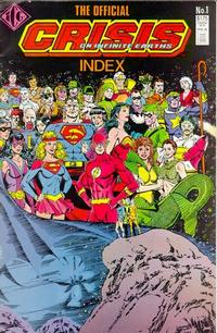 Cover Thumbnail for The Official Crisis On Infinite Earths Index (Independent Comics Group, 1986 series) #1