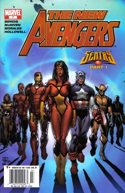 Cover for New Avengers (Marvel, 2005 series) #7 [Limited Edition Variant Cover]