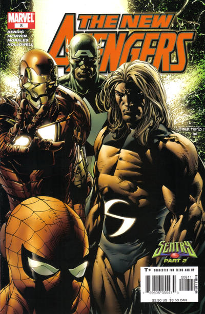 Cover for New Avengers (Marvel, 2005 series) #8 [Direct Edition]