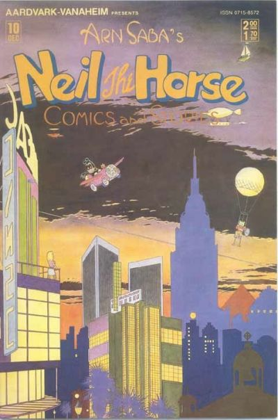 Cover for Neil the Horse Comics and Stories (Aardvark-Vanaheim, 1983 series) #10