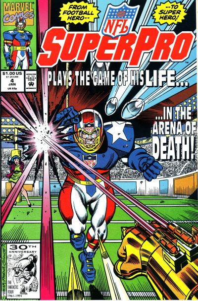 Cover for NFL Superpro (Marvel, 1991 series) #4