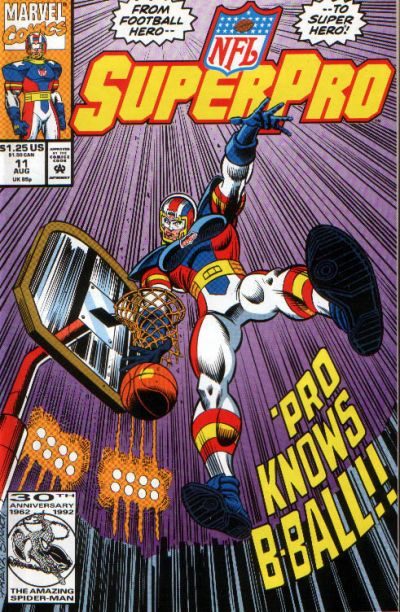 Cover for NFL Superpro (Marvel, 1991 series) #11