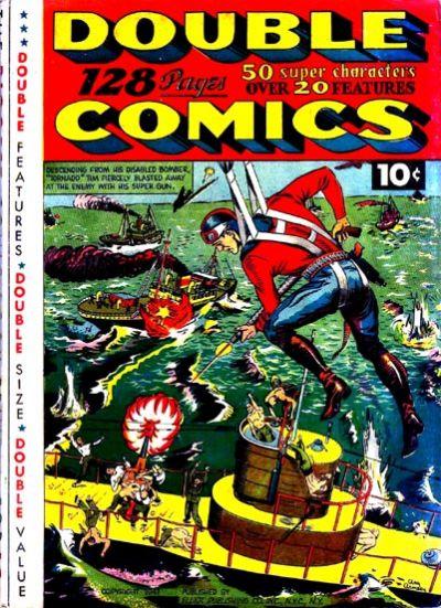 Cover for Double Comics (Gilberton, 1940 series) #1941 [Tornado Tim]