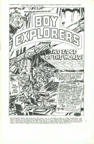 Cover for Boy Explorers Comics (Harvey, 1946 series) #2