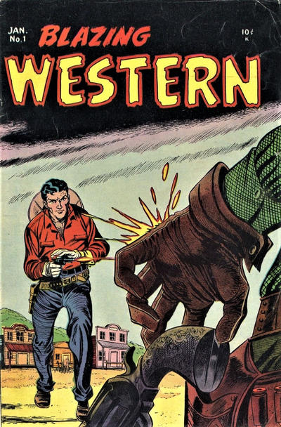 Cover for Blazing Western (Timor, 1954 series) #1