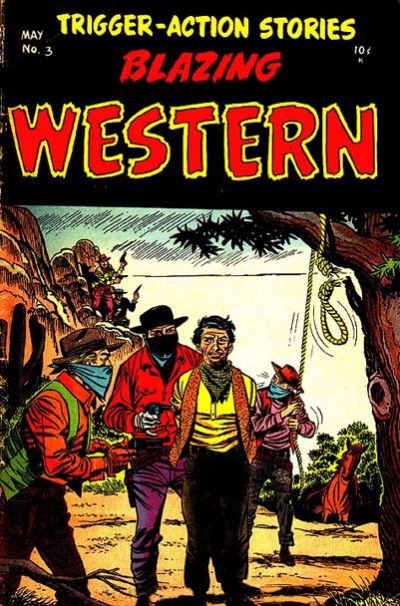 Cover for Blazing Western (Timor, 1954 series) #3