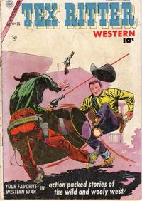 Cover Thumbnail for Tex Ritter Western (Charlton, 1954 series) #25