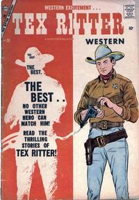 Cover Thumbnail for Tex Ritter Western (Charlton, 1954 series) #38