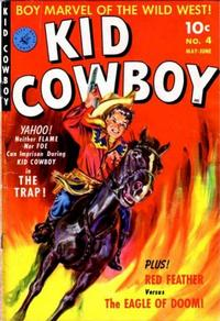 Cover Thumbnail for Kid Cowboy (Ziff-Davis, 1950 series) #4